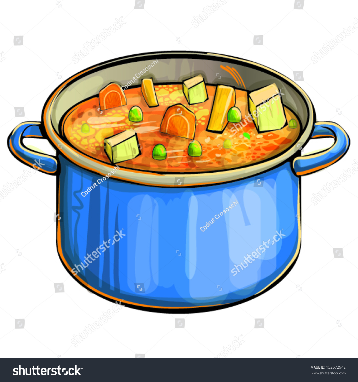 Cartoon Soup Pot soup ...