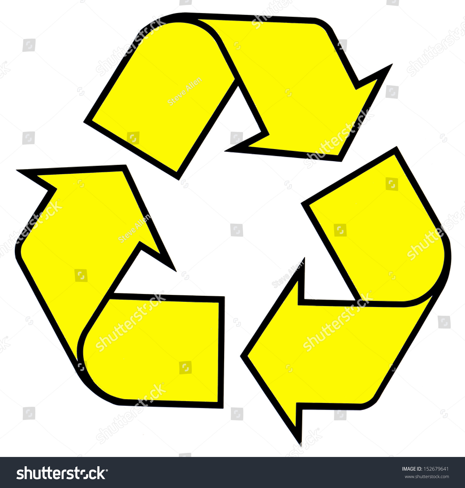 Recycling Symbol Isolated Cutout Stock Illustration 152679641