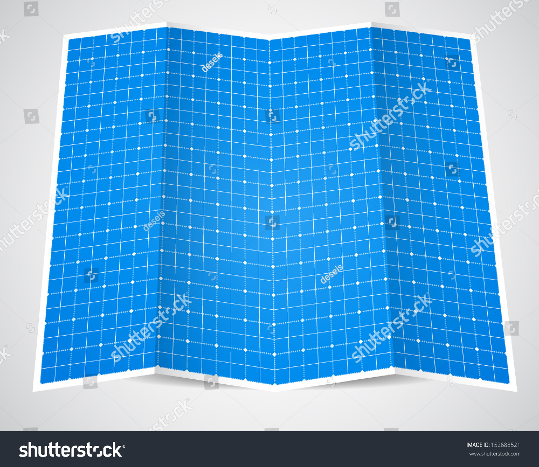 Folded blueprint paper vector illustration stock vector 152688521 folded blueprint paper vector illustration stock vector 152688521 shutterstock malvernweather Images