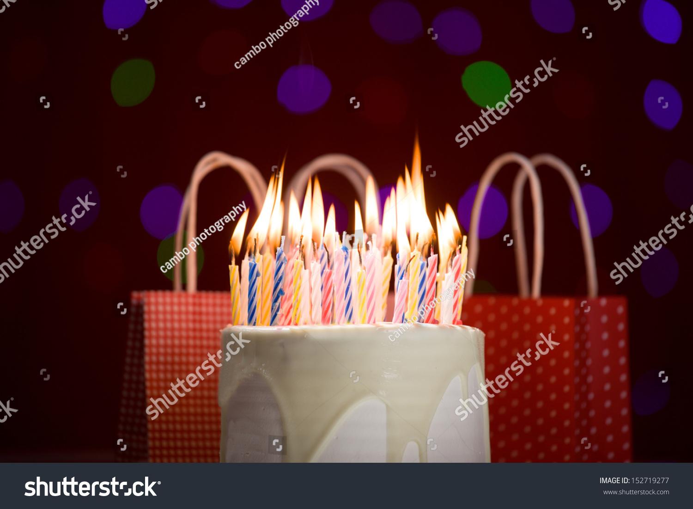 Happy Birthday Cake Shot On Red Stock Photo Edit Now 152719277
