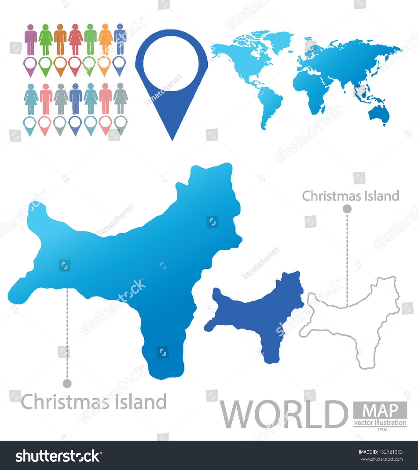 Christmas Island World Map Vector Illustration Stock Vector Royalty