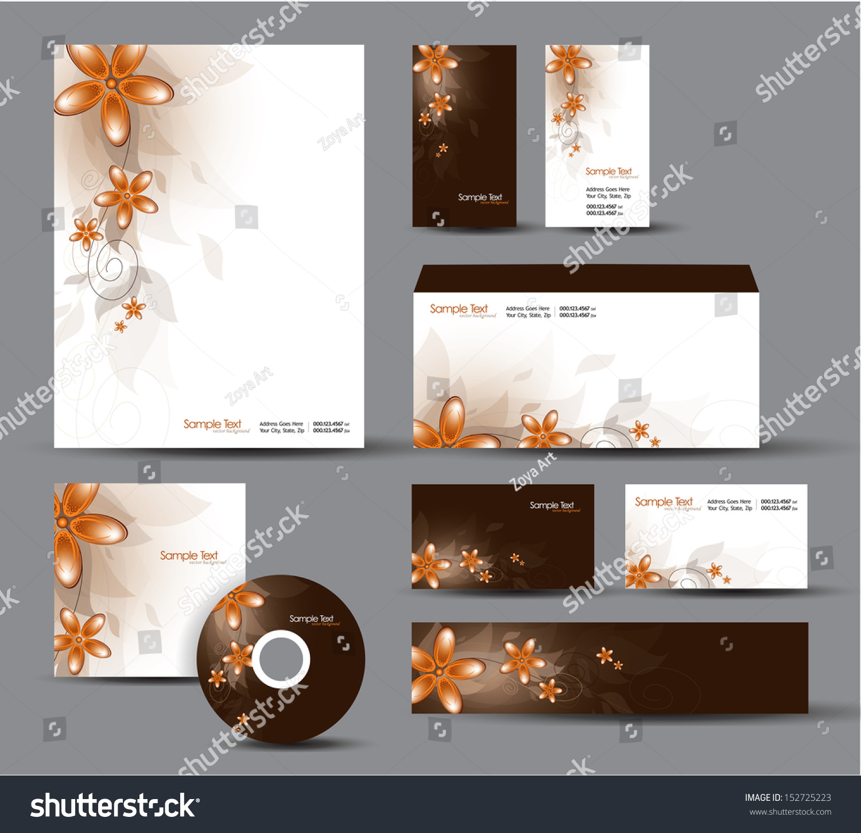 Identity System Letterhead Business Card Envelope Stock Vector HD ...