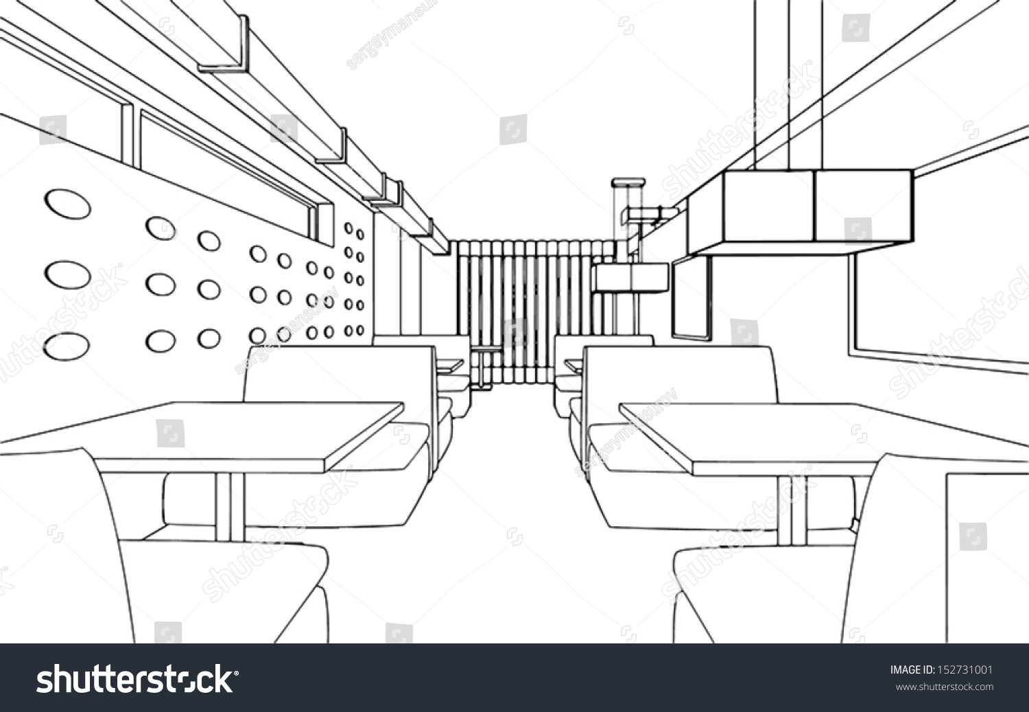 Draft design restaurant d graphic stock vector