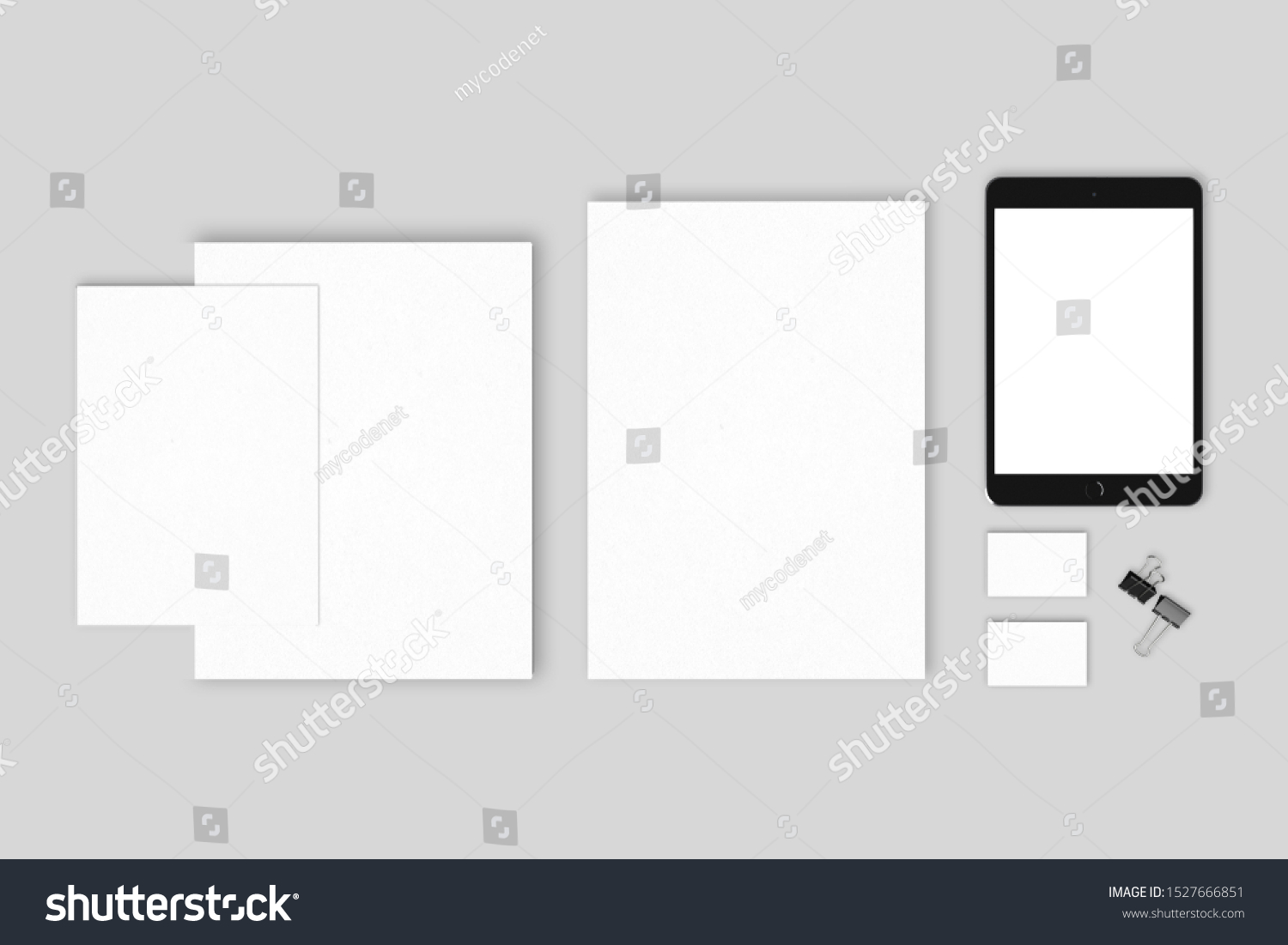 Premium blanks corporate mockup templates to show your design  #1527666851