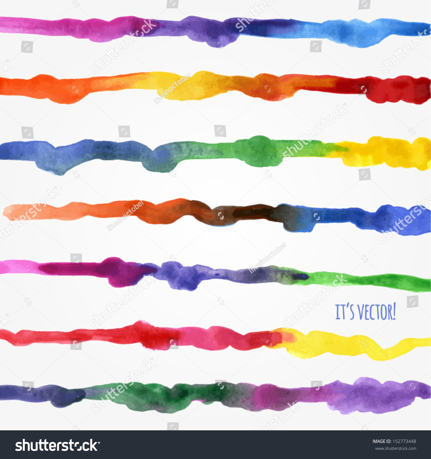 Line Texture Paint : Vector watercolor texture multicolored handdrawn