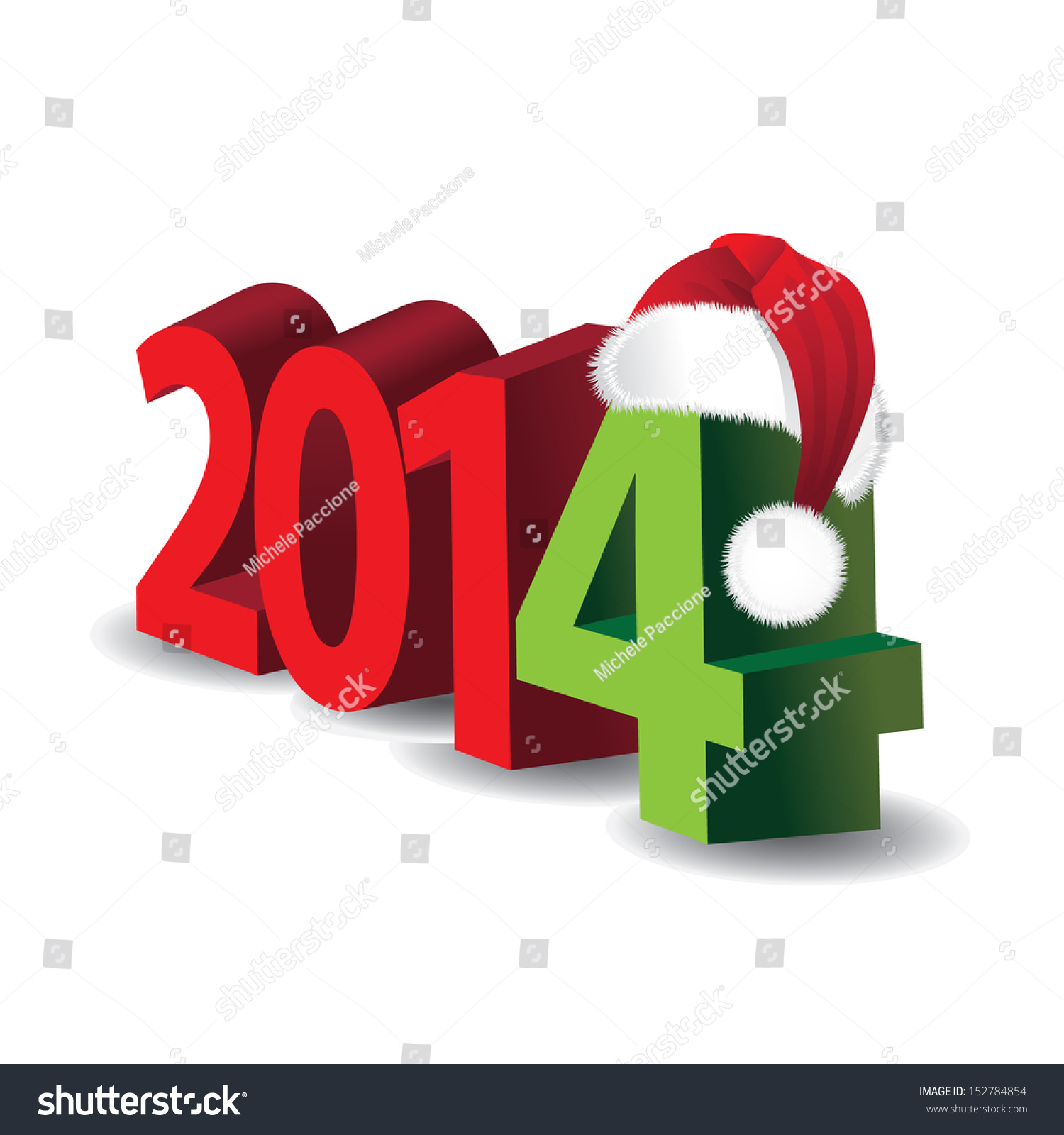 2014 3 D New Year Holiday Christmas Stock Vector (Royalty Free ...