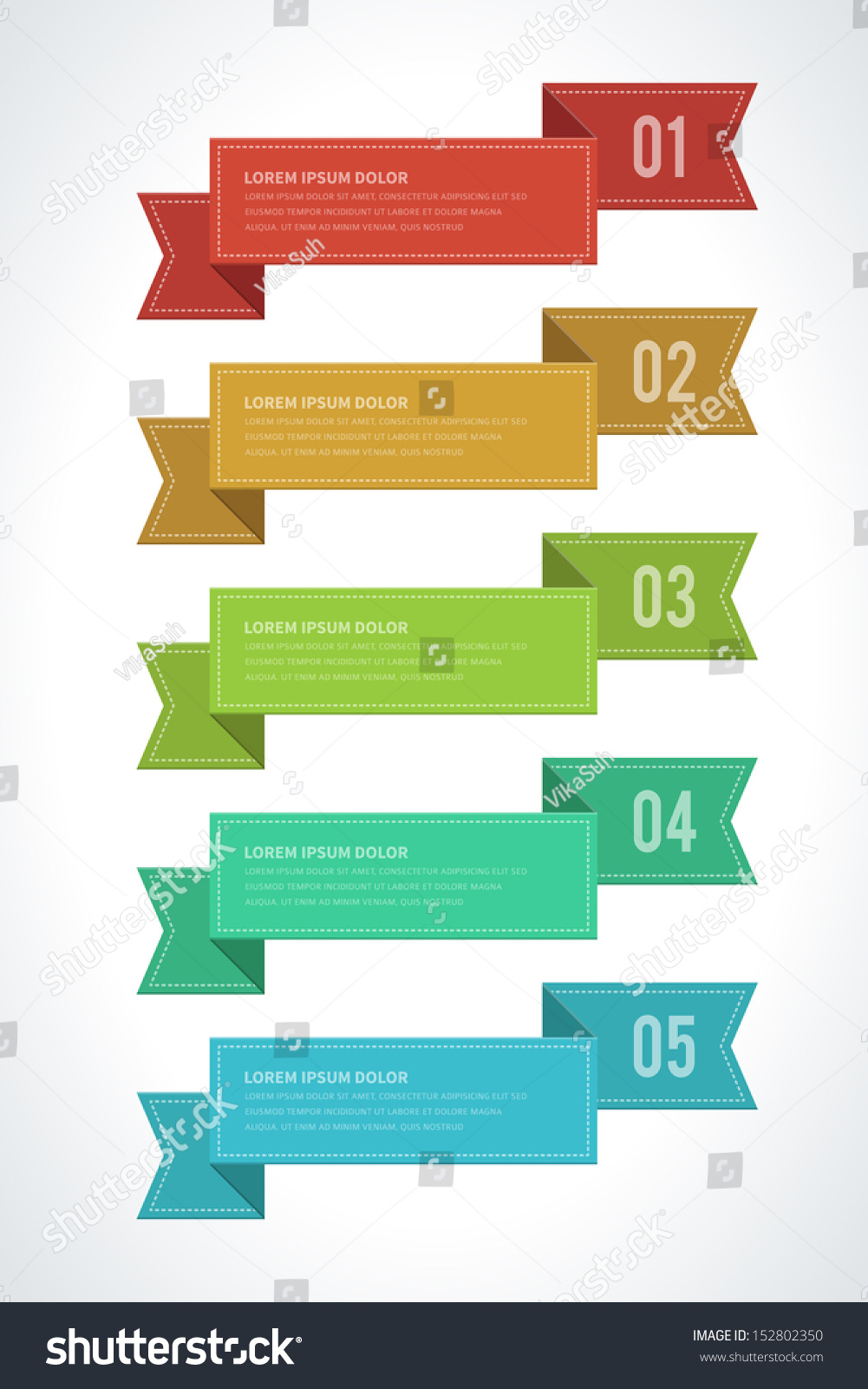 Design elements banner - Infographics Options Design Elements Vector Illustration Paper And Banner Numbers Website Eps 10