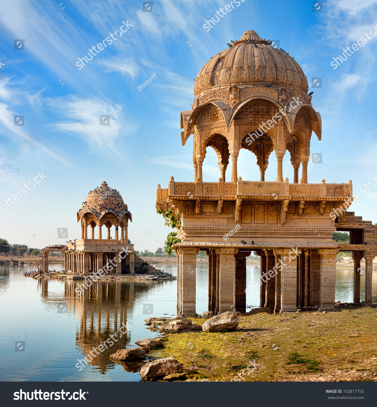 Gadi Sagar Gadisar Lake Is One Of The Most Important Tourist Attractions In Jaisalmer