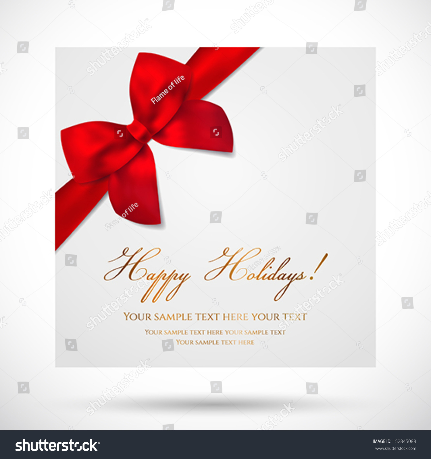 Holiday Card Christmas Card Birthday Card Vector 152845088 – Holiday Card Template