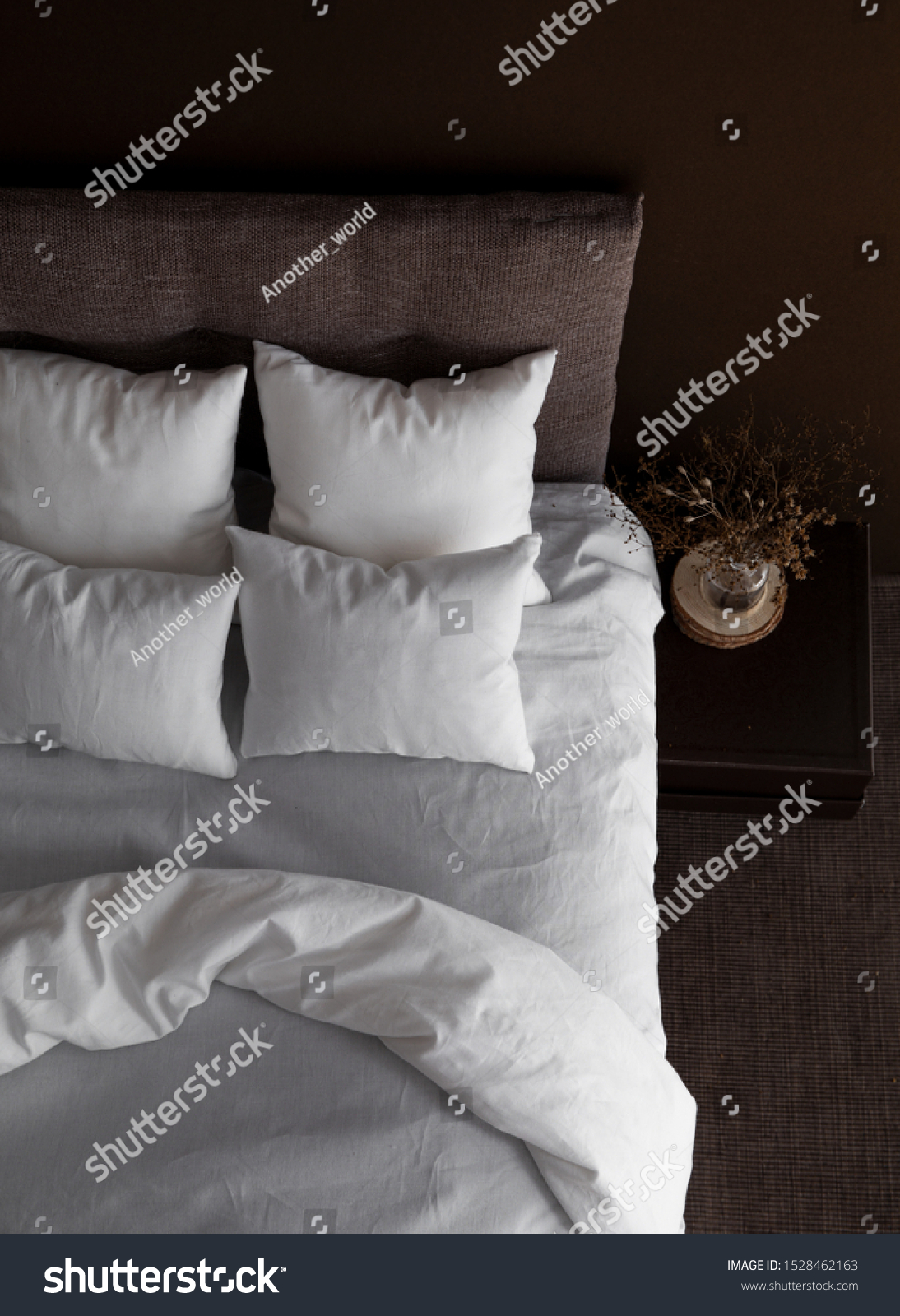White Pillows Duvet Duvet Case On Stock Photo Edit Now 1528462163