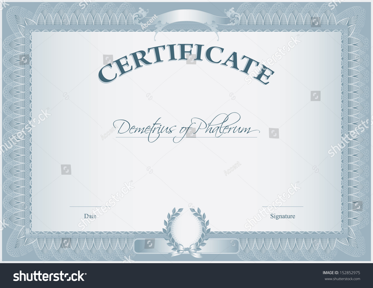 Blank retro certificate template which can stock vector 152852975 blank retro certificate template which can be issued after the completion of any course by educational xflitez Image collections