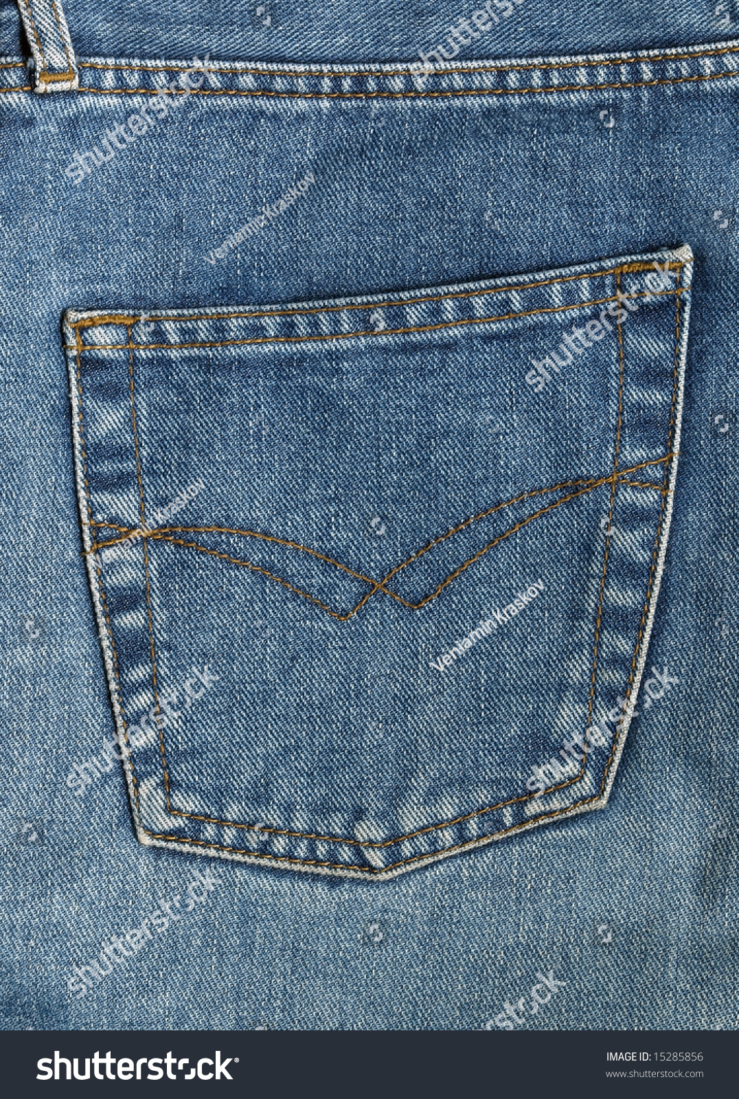 Back Pocket Denim Jeans Stock Photo 15285856 - Shutterstock