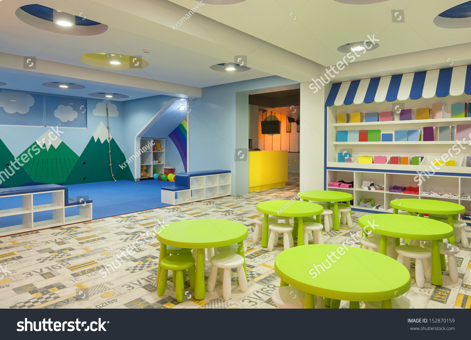 Interior Modern Kindergarten Stock Photo 152870159