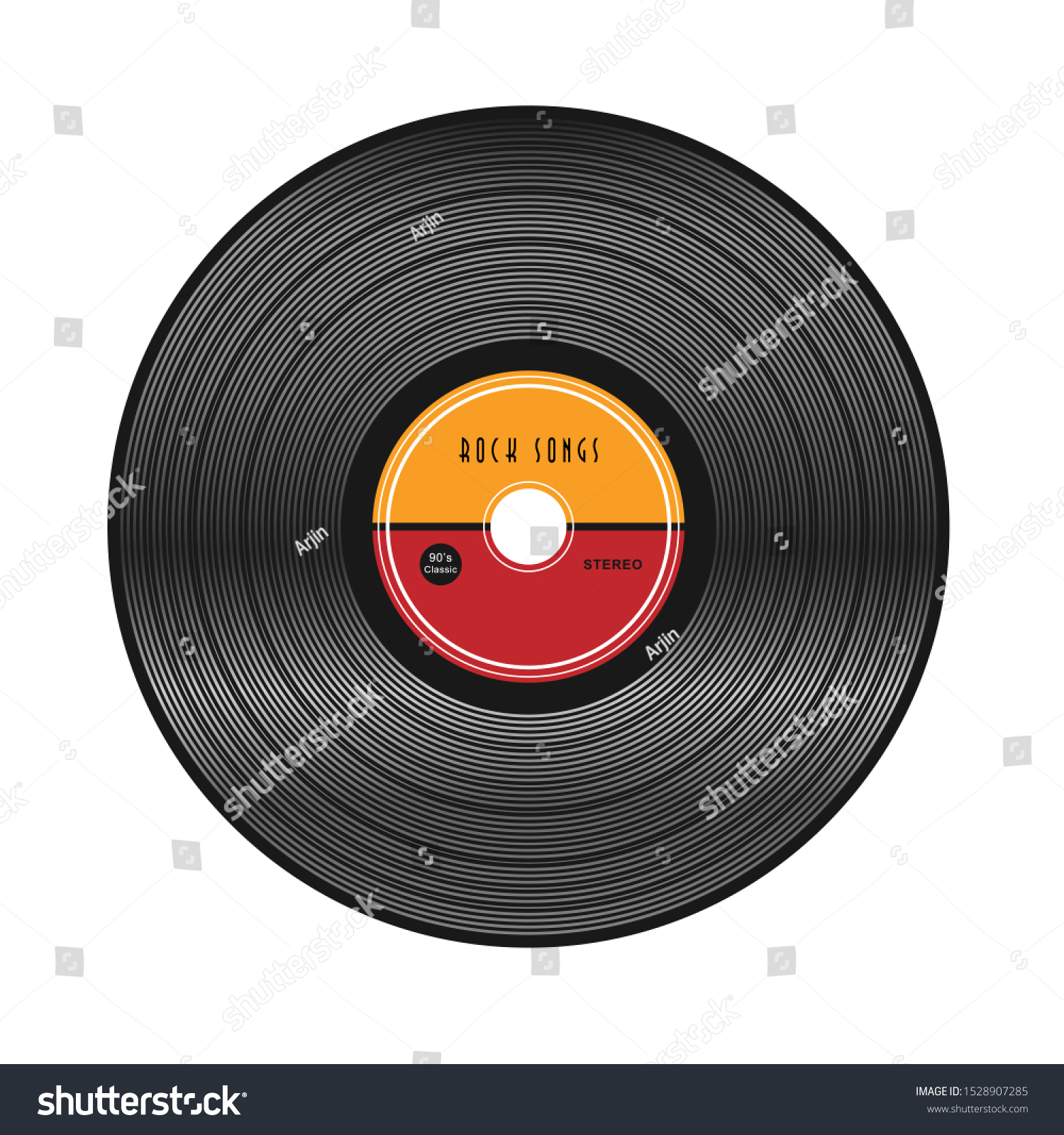 vinyl music record vintage gramophone disc stock vector royalty free 1528907285 https www shutterstock com image vector vinyl music record vintage gramophone disc 1528907285