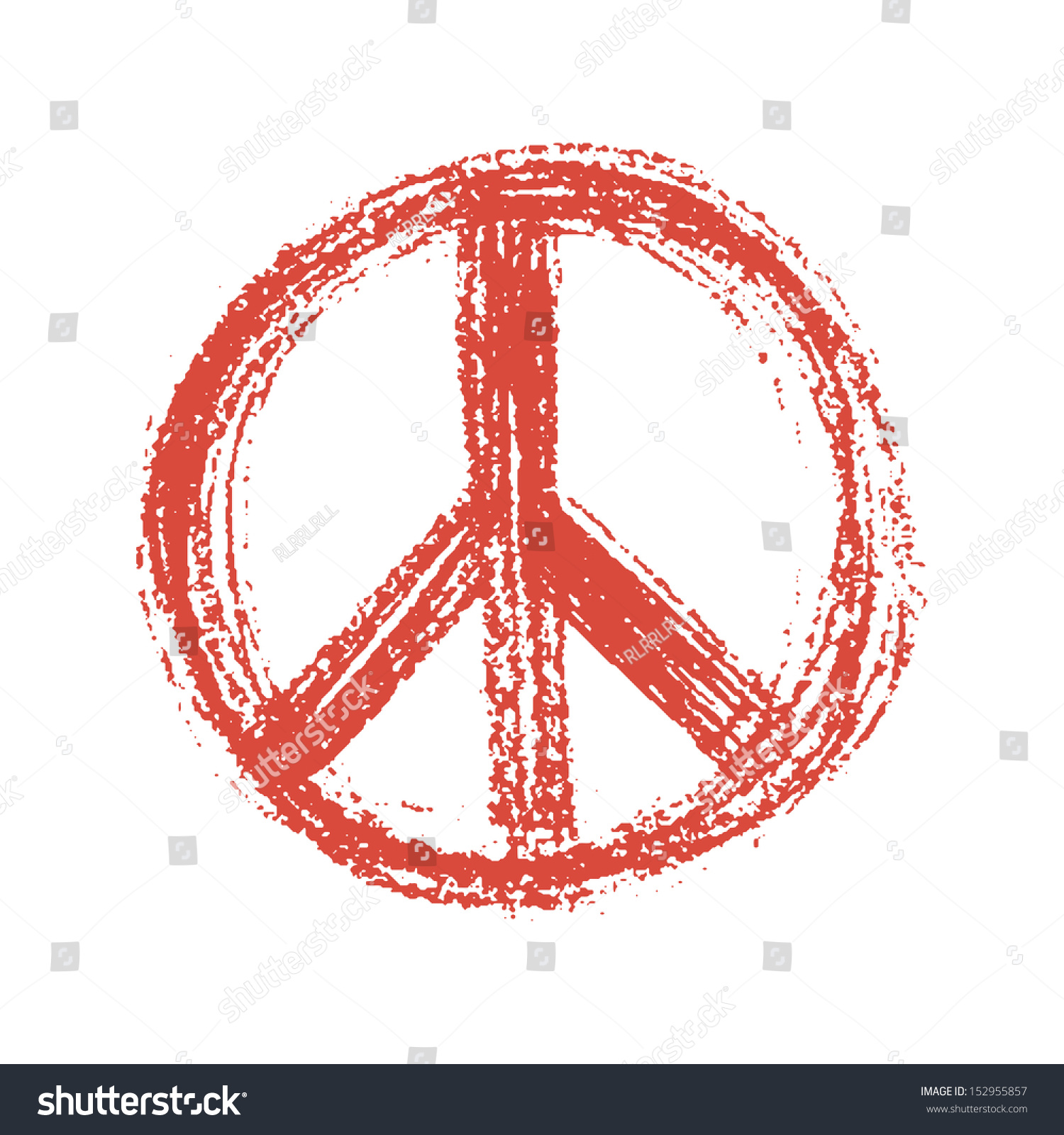 Red peace symbol created grunge style stock illustration 152955857 red peace symbol created in grunge style jpeg version biocorpaavc Images