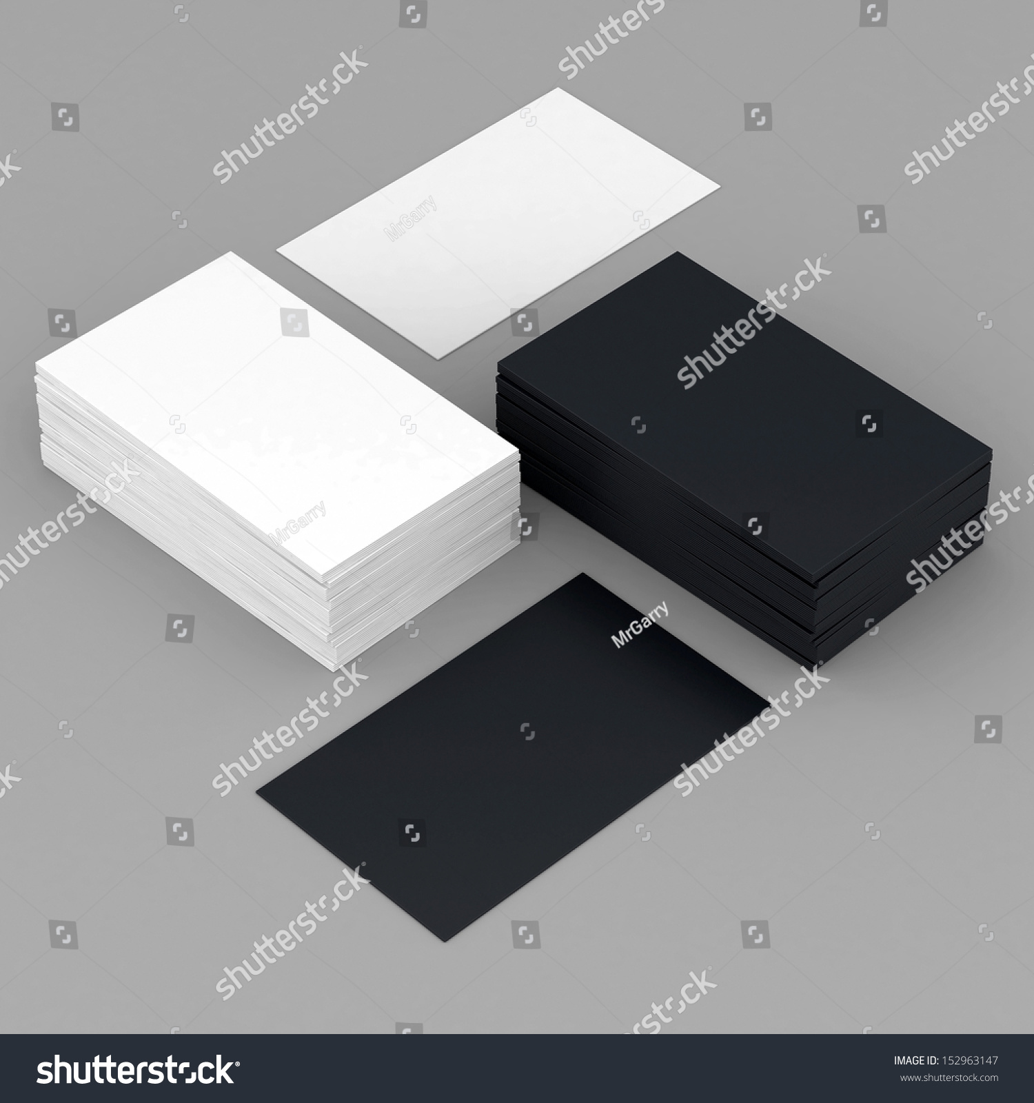 business cards blank mockup template gray stock illustration
