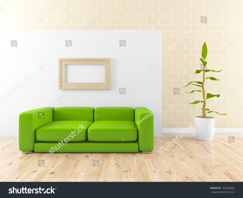 Minimalist Green Lounge Stock Photo 152966663 Shutterstock