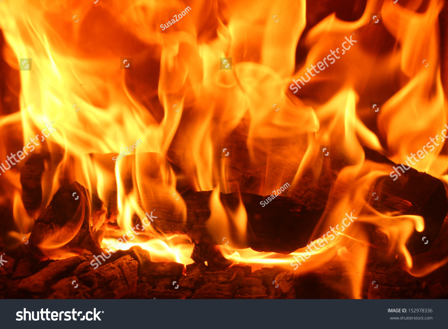 romantic chimney fire burning logs stock photo 152978336