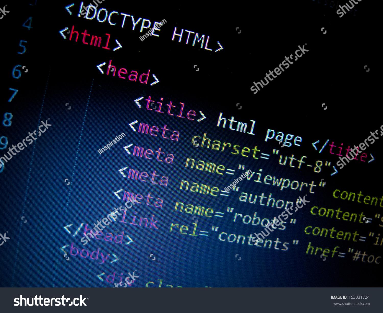 Html Code Stock Photo 153031724 - Shutterstock