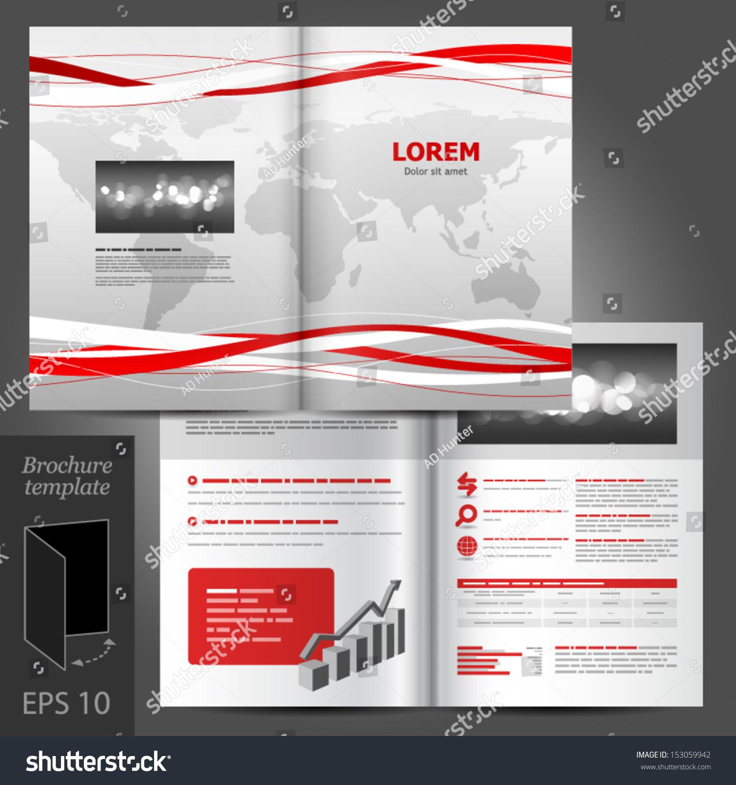 Vector White Brochure Template Design World Stock Vector 153059942 ...