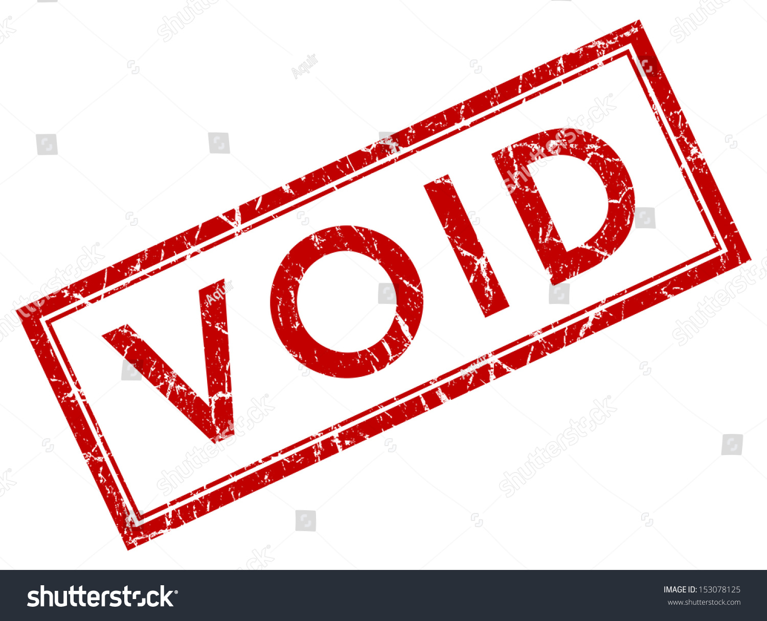 Void Square Grunge Red Stamp Stock Photo 153078125 ...