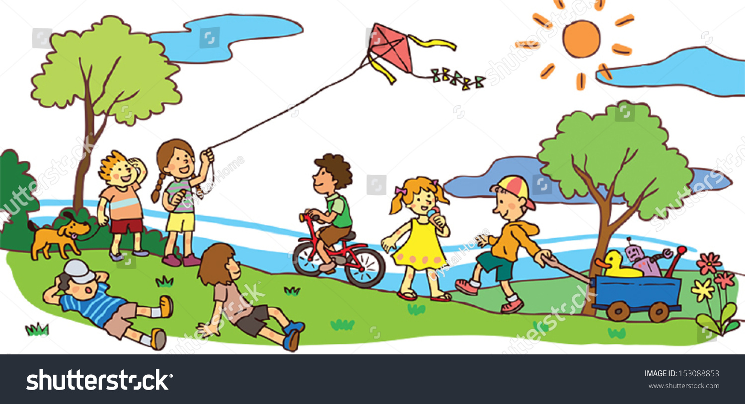 Cartoon Images Of Children Playing