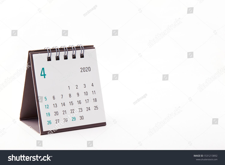 2020 April calendar on white background #1531213892