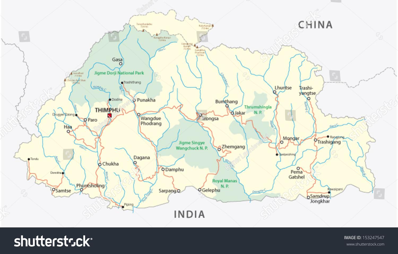 Map Of Bhutan on