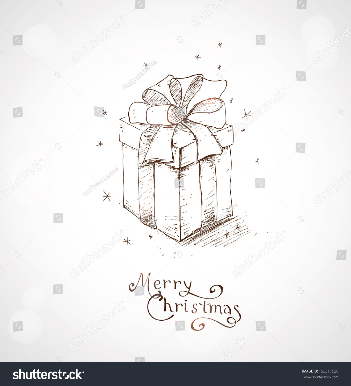 Christmas Greeting Card Hand Draw Background Stock Vector (Royalty ...