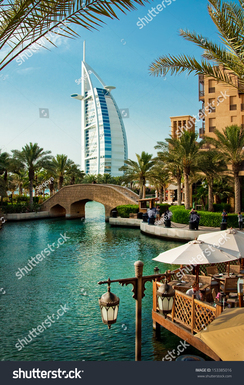 Dubai june 3 famous hotel tourist stock photo 153385016 for The famous hotel in dubai