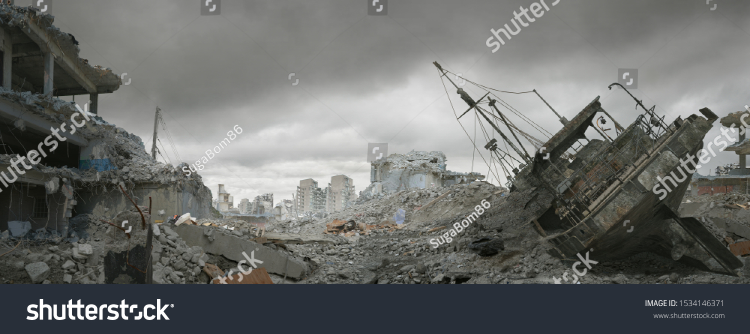 Post apocalyptic wasteland and city of ruins. #1534146371