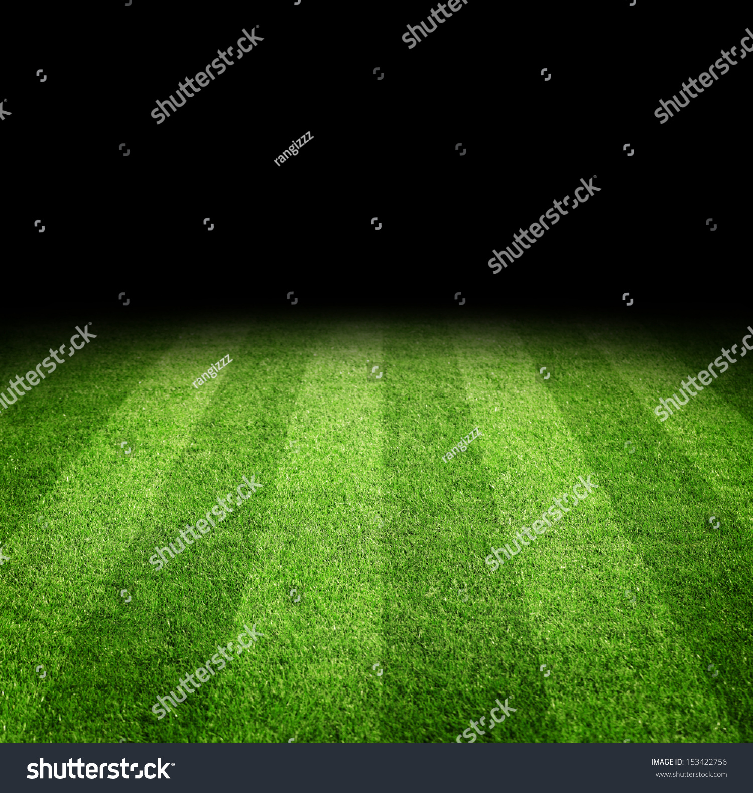 close soccer football field night copy stock photo 153422756