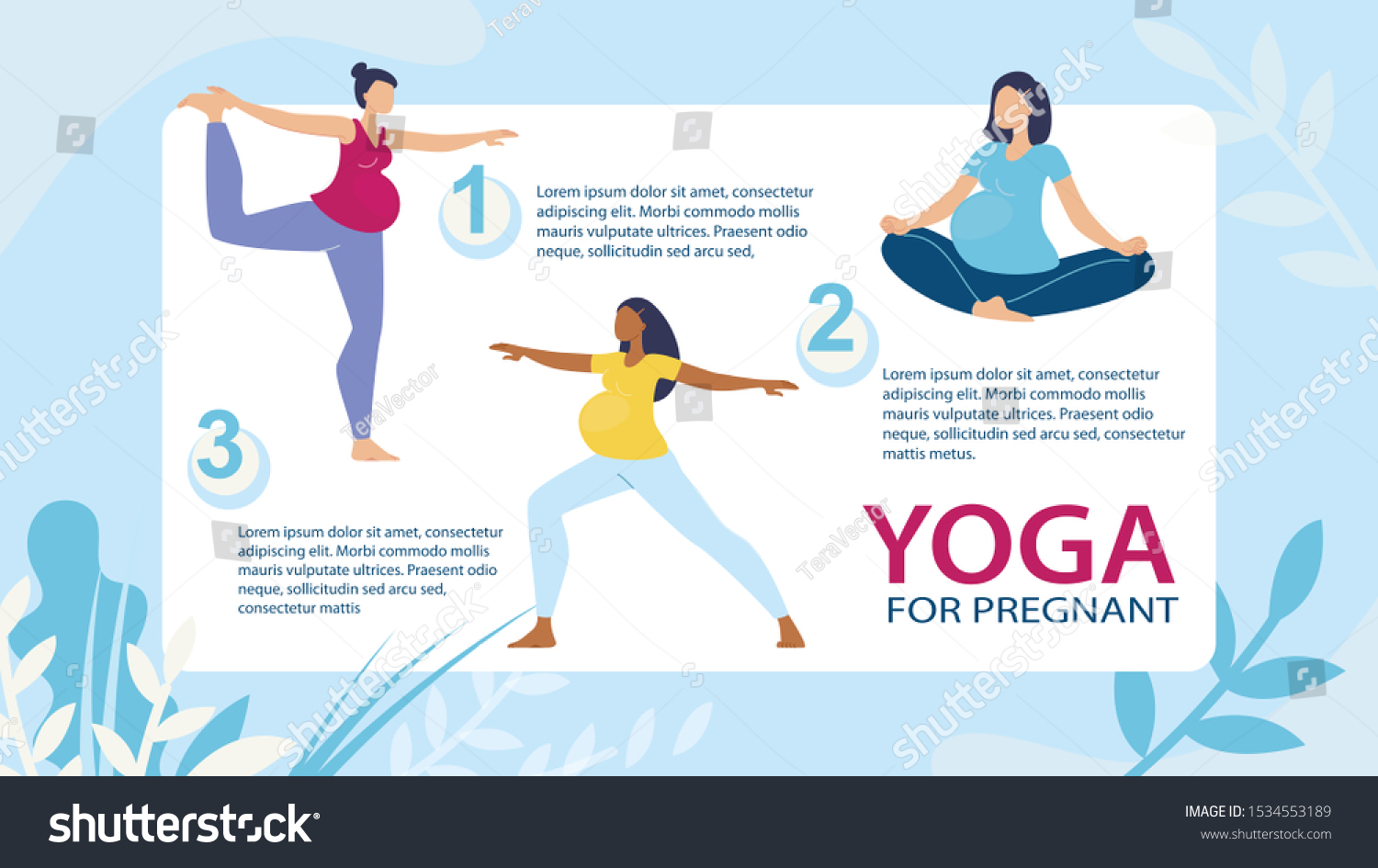 Yoga Exercises Fitness Courses Pregnant Women Stock Vector Royalty Free 1534553189