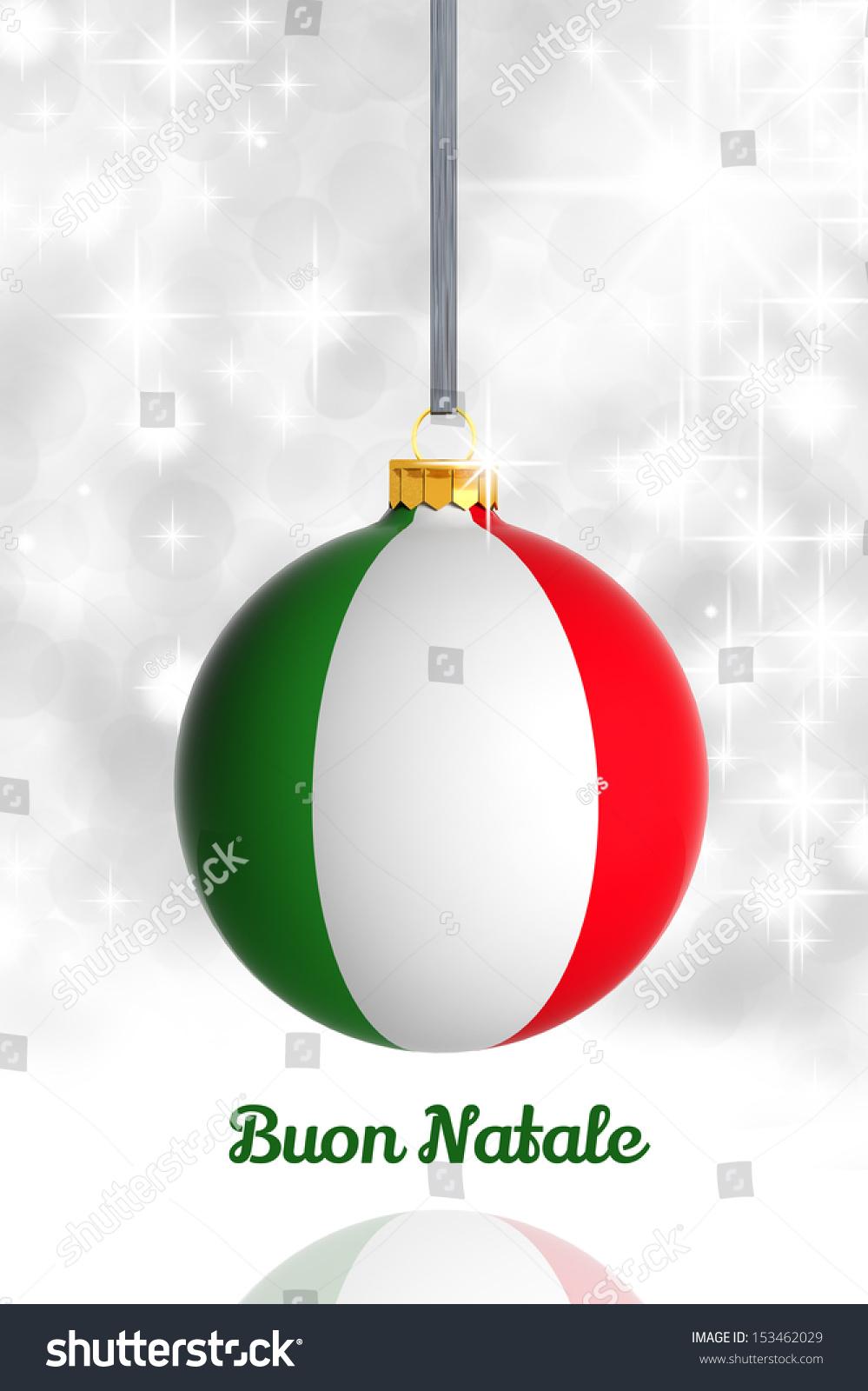 Merry Christmas Italy Christmas Ball Flag Stock Illustration ...
