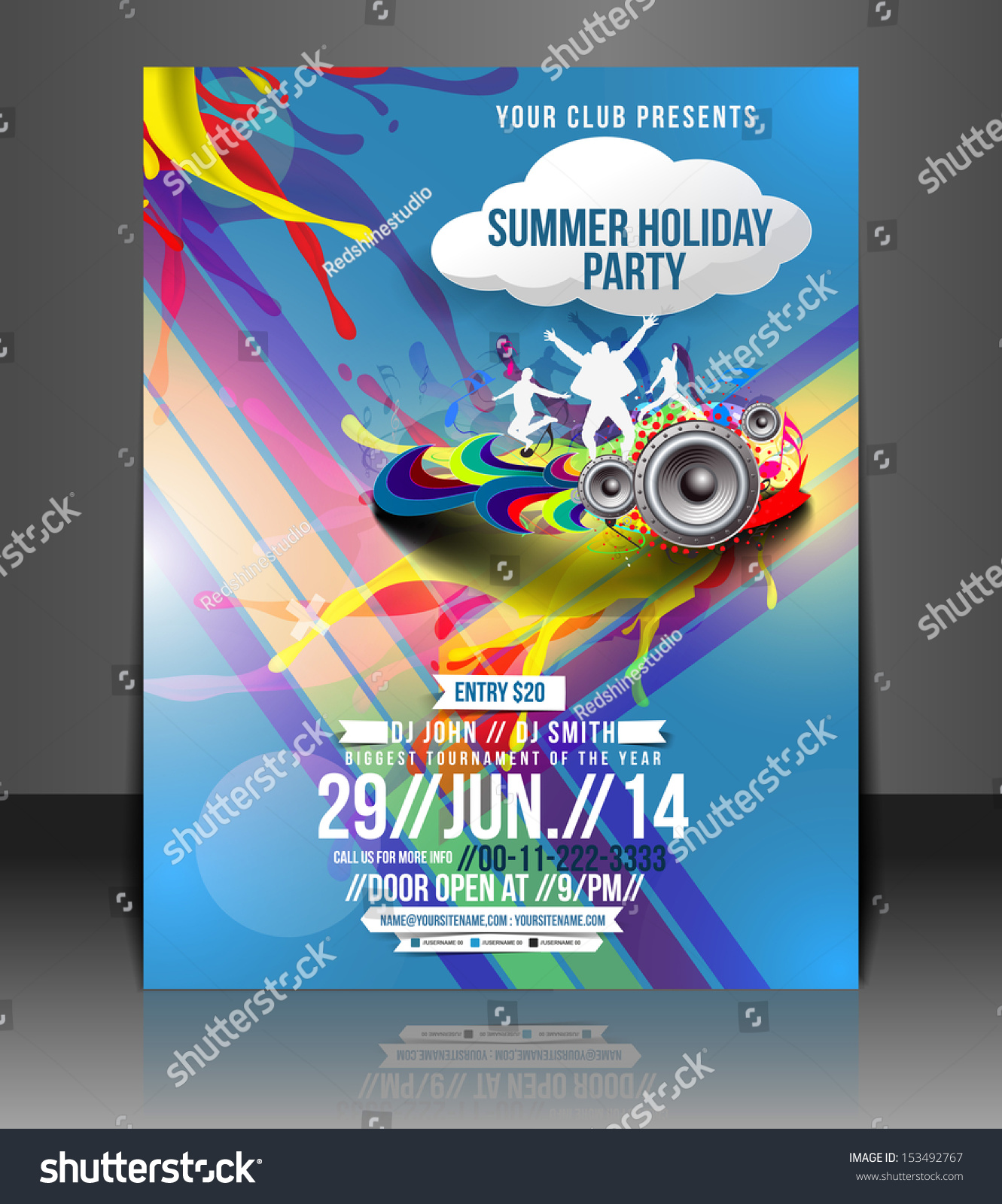 Vector Music Party Brochure Flyer Magazine Vector 153492767 – Music Brochure