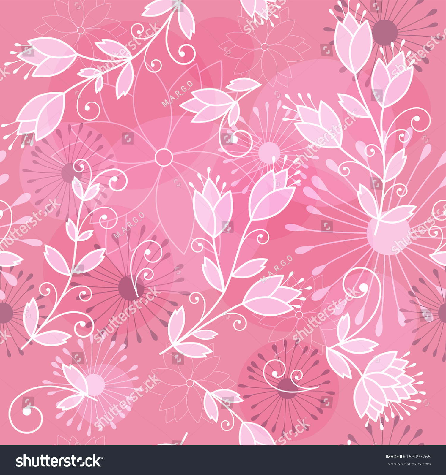 Pink Floral Background Vector Illustration Stock Vector Royalty