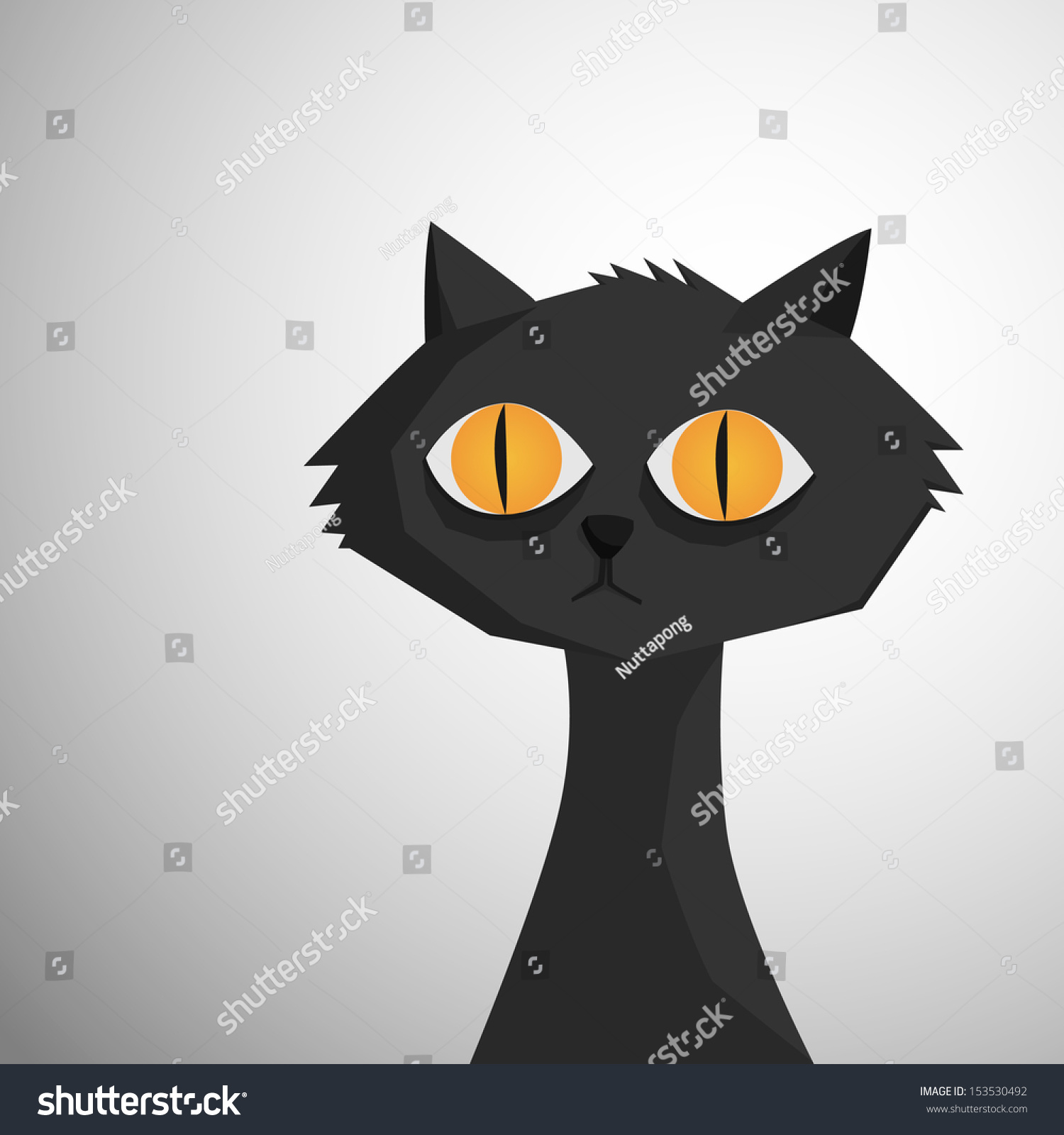 black cat vector cristiano - photo #18
