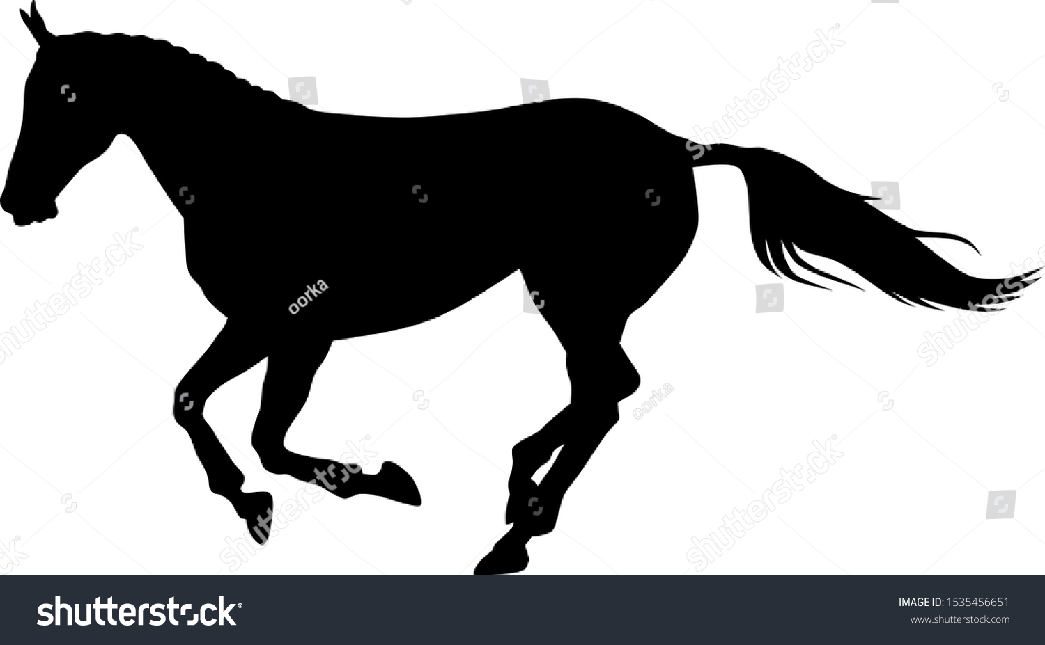 Vector Illustration Running Horse Silhouette Stock Vector Royalty Free 1535456651