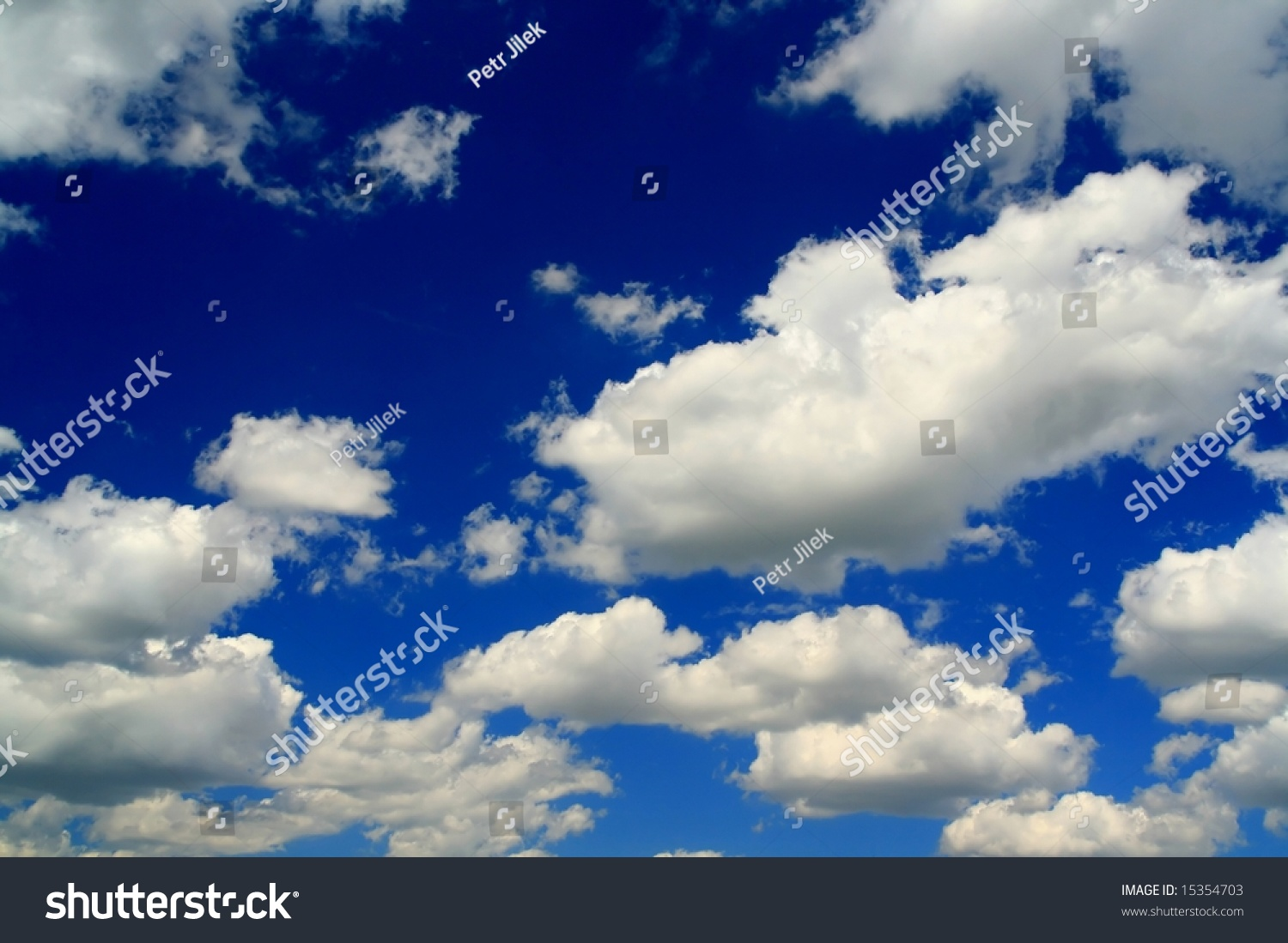 Plain Blue Sky And Beauty White Clouds Stock Photo ...