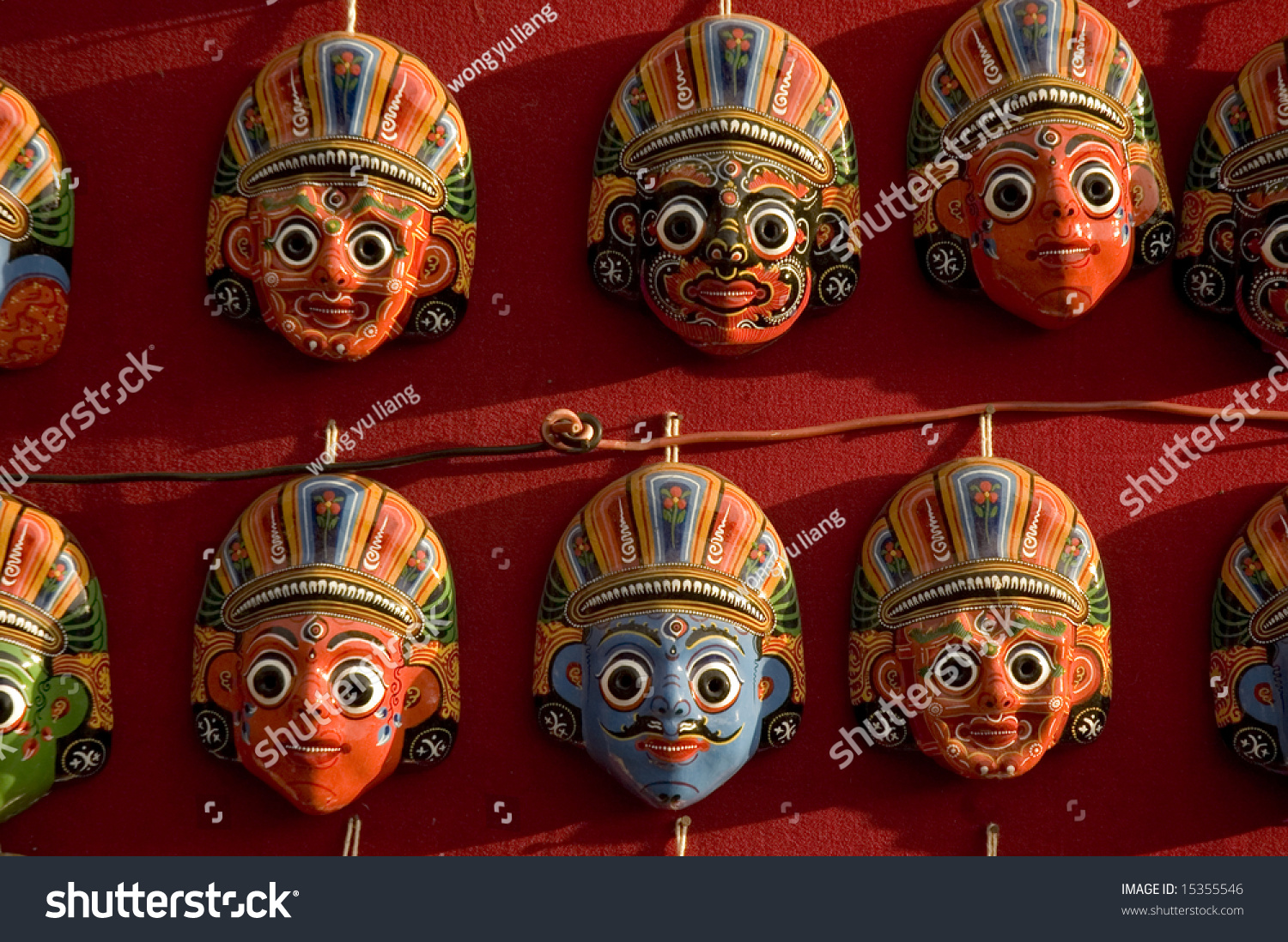 Masks On Wall Bakthapur Nepal Stock Photo (Edit Now) 15355546