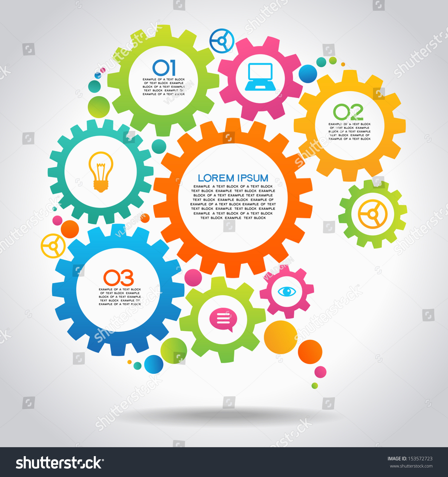 Vector Illustration Infographic Design Template Gear Stock ...