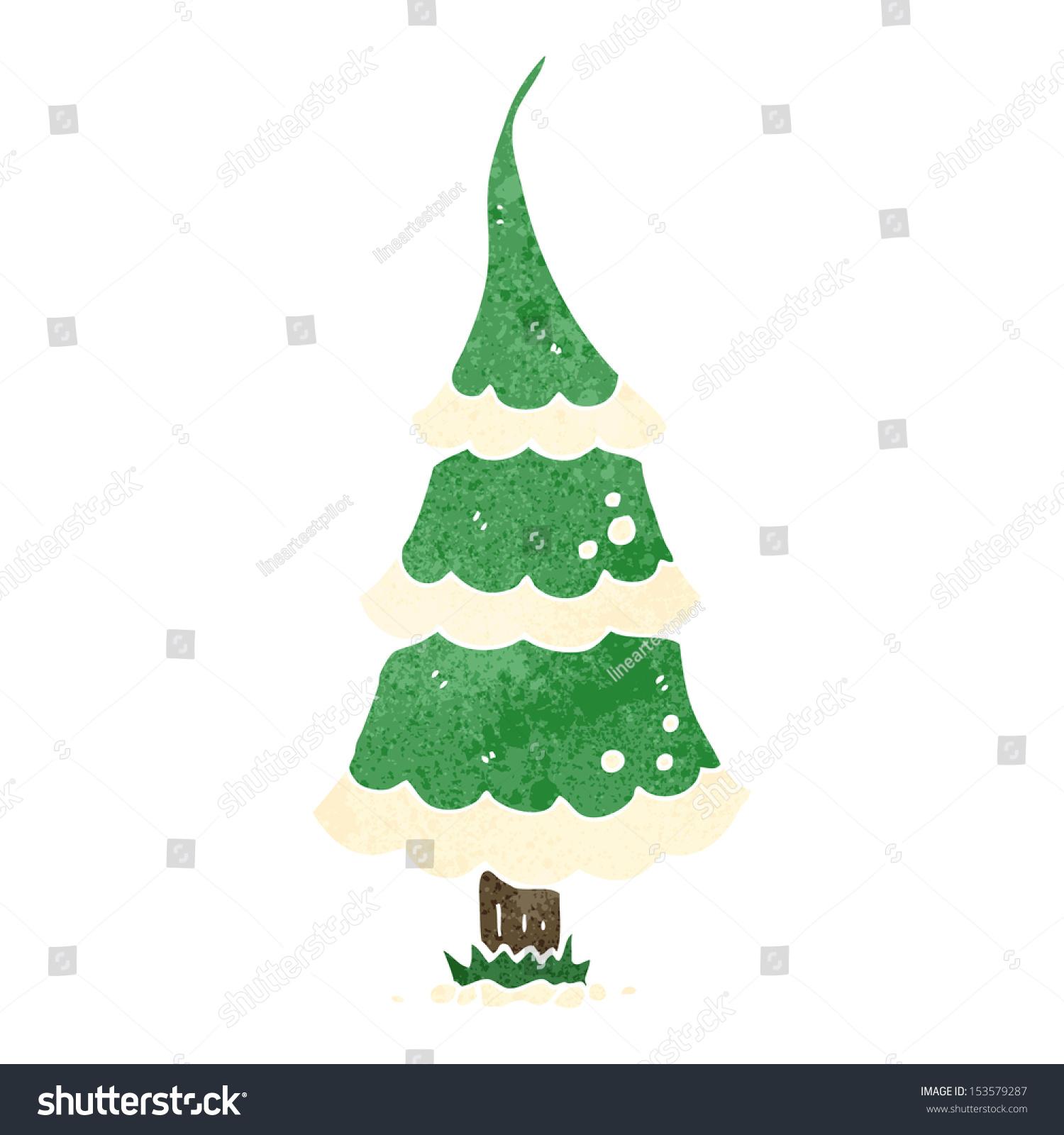 retro cartoon christmas tree stock vector 153579287 shutterstock