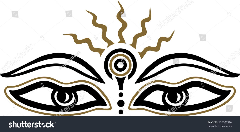 Eyes buddha symbol wisdom enlightenment stock vector 153601316 eyes of buddha symbol wisdom enlightenment biocorpaavc Images