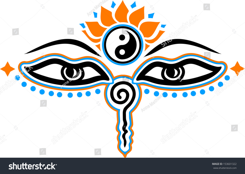 Eyes buddha symbol wisdom enlightenment stock vector 153601322 eyes of buddha symbol wisdom enlightenment biocorpaavc Images
