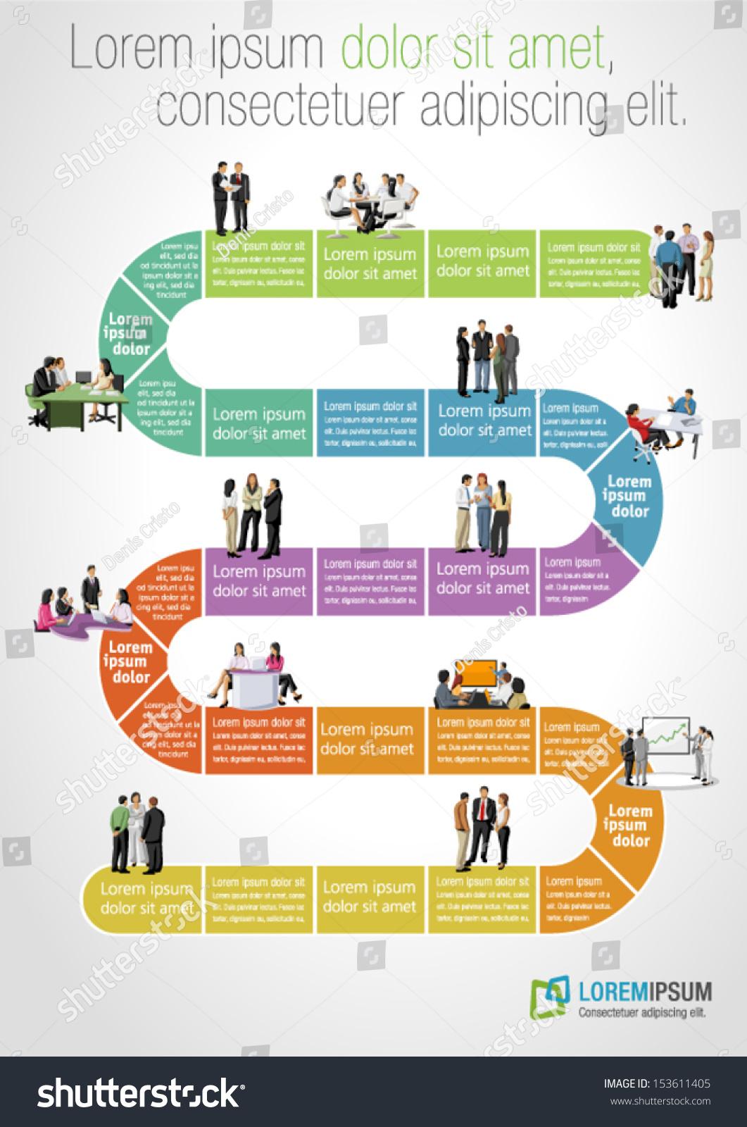 template advertising brochure business people on stock vector template for advertising brochure business people on work flow