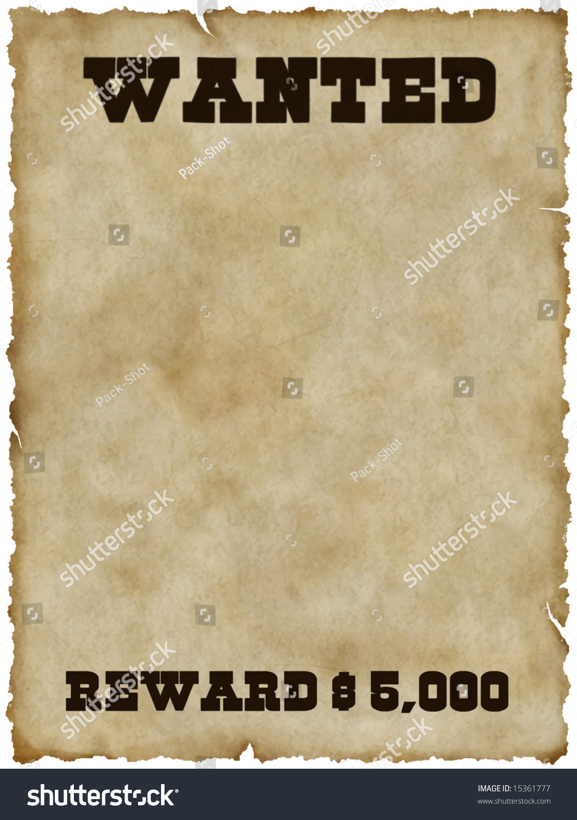 Wanted Poster Stock Photo 15361777   Shutterstock
