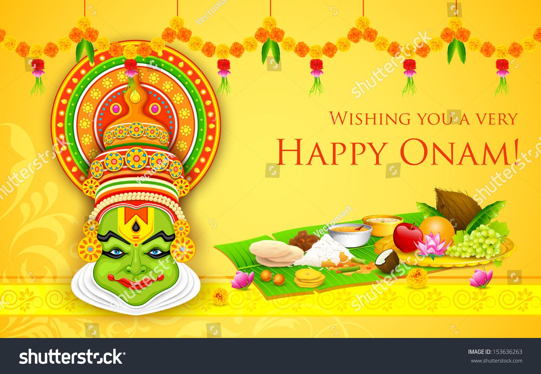Illustration Of Colorful Kathakali Dancer Face For Onam Celebration How To  Draw