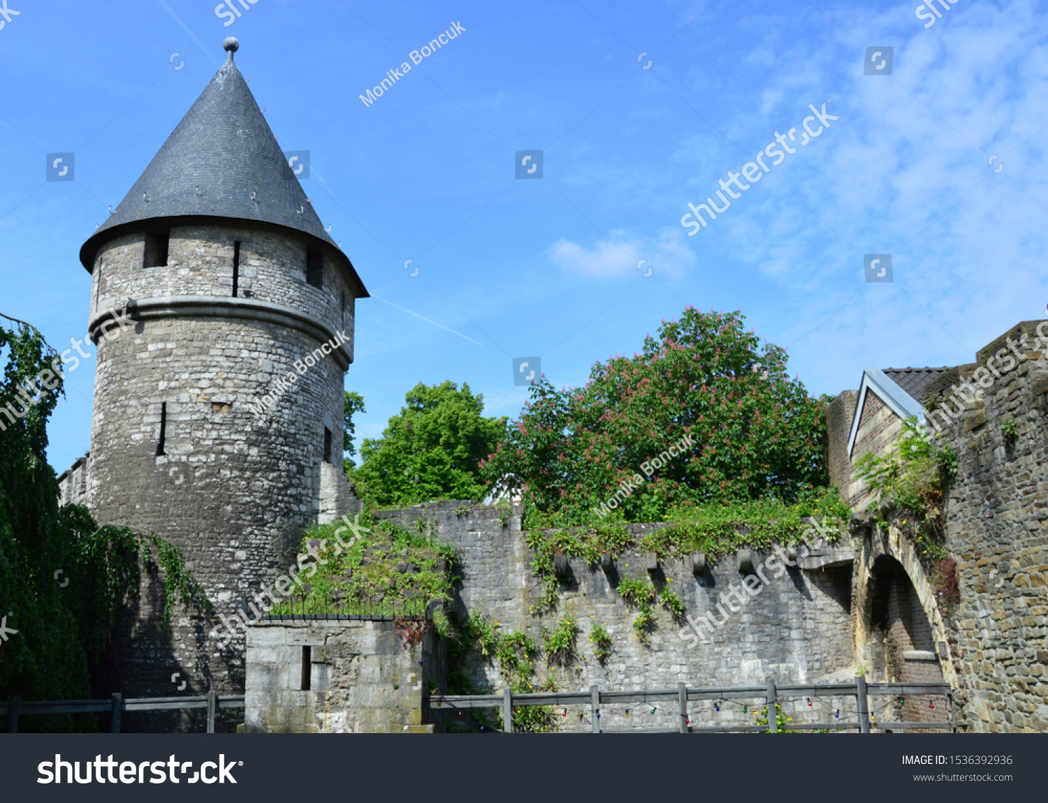 stock-photo-an-old-tower-and-wall-in-maa