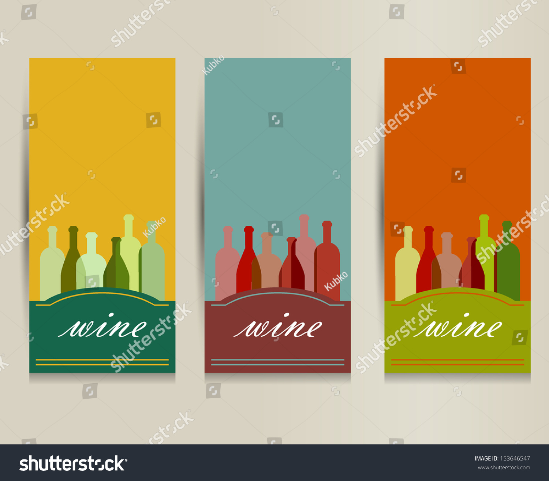 Wine card restaurant brochure design flyer stock vector