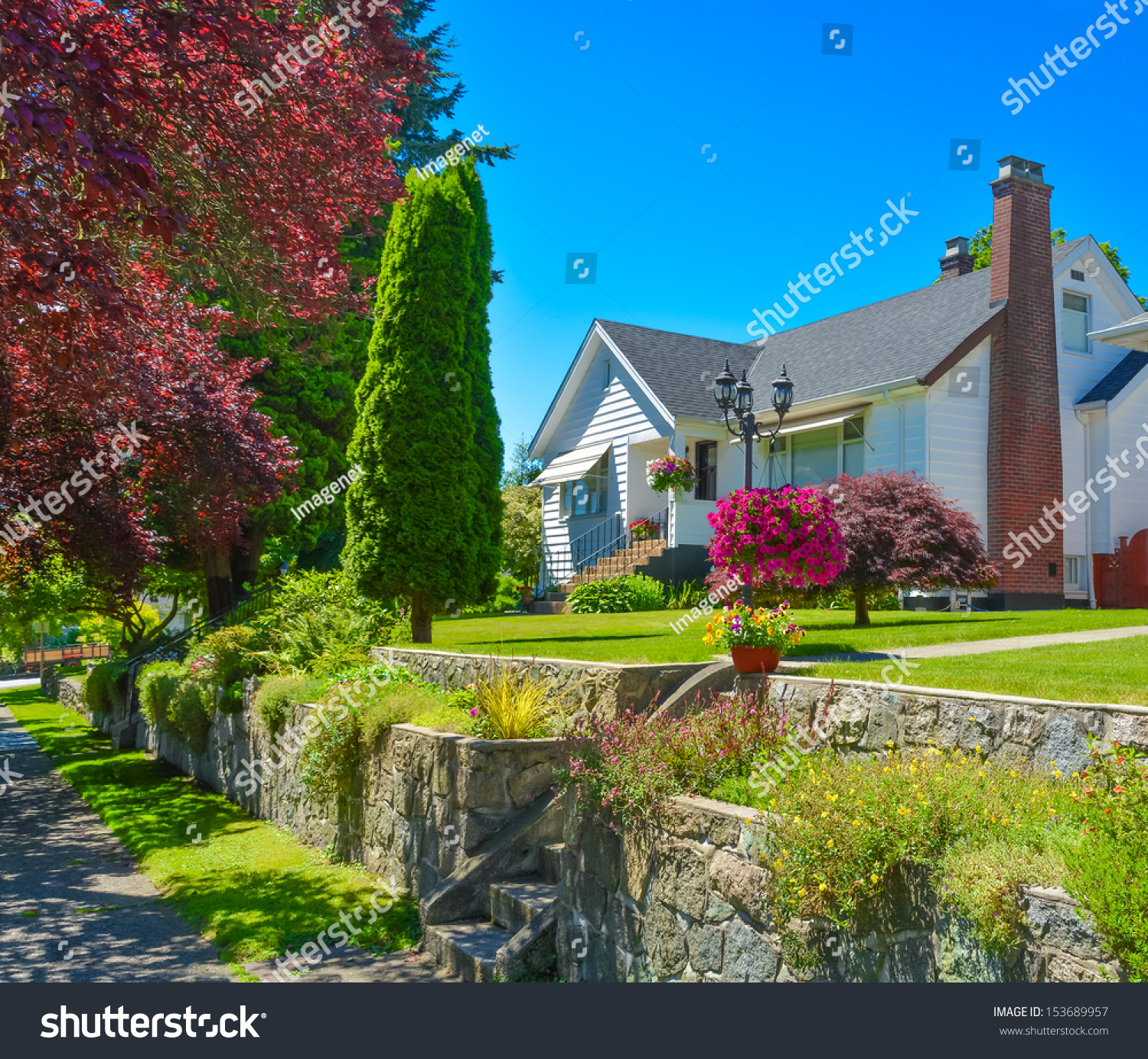 House on terrace land vancouver canada stock photo for The terrace land and house